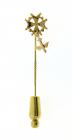 Gouden dasspeld met hugenoten kruisje