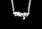 Zilveren naamketting voor kinderen model Diego