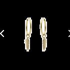 Gouden creolen met gouden veertje 12mm