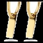 Gouden creolen met rechthoek plaatje 13 mm