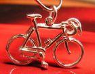 Wielrenners fiets model1 echt zilver