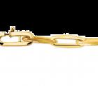 Gouden Closed forever schakelarmband 19,5 cm 9,7 gram