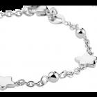 Kinderarmbandje zilver, met bolletjes en sterren 11-13 cm