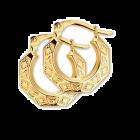 Gouden creolen oorringen bewerkt en geslepen in facet 14,5 mm