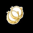 Gouden creool oorring lapide glad 13 mm