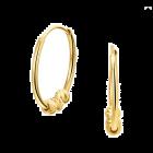 Gouden oorringen creolen met 3 bolletjes