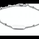 Zilveren graveer armbandje dogtag