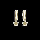 Gouden creolen met ster 12 mm