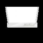 Zilveren graveer bar met gratis naam gravure