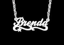 Zilveren naamketting voor kinderen model Brenda