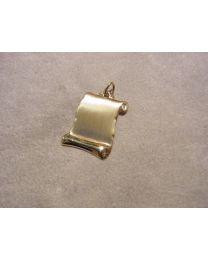 Gouden graveerplaatje perkamentrol mat groot model
