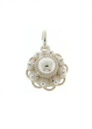 Zeeuwse knop hanger 18 mm wit zilver
