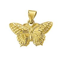 Gouden vlinder hanger