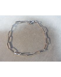 Zilveren closed forever armband, gerohdineerd zilver 4,3 mm 19 cm.