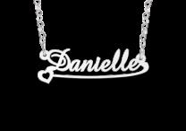 Zilveren naamketting voor kinderen model Danielle