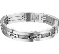 Stalen heren armband 13 mm breed, lengte 21,5 cm