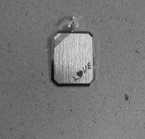 Graveerplaat rechthoek met Love