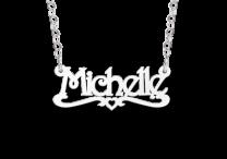 Zilveren naamketting voor kinderen model Michelle
