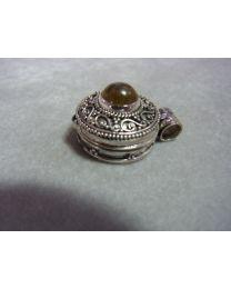 Zilveren doosje medaillon met labradorite