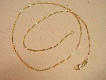 Doublé collier venetiaan 45 cm dikte 1,5 mm