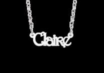 Zilveren naamketting voor kinderen model Claire