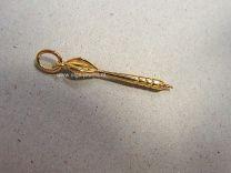 Dartpijltje 2,4 cm Goud.