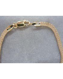 Zilveren gold-plated popcorn armband 18 cm