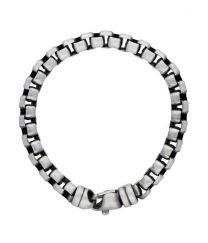 Venetiaanse schakel 7 mm zilveren heren armband 21 cm.