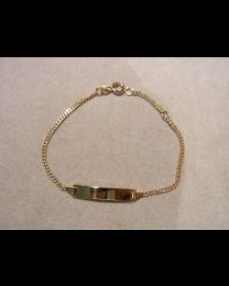 gouden naamplaat armband 18 cm