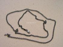 Zilveren jasseron collier donker zilver 2,5 mm 60 cm