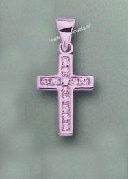 Kruis met zirkonia 2,5 cm