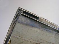 Fotolijst met smalle parelrand 3 x 4 cm