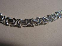 Platte Koningsketting zilver 8,5 mm 70 cm