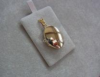 Ovaal glad medaillon goud model 5
