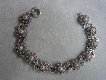Armband Zeeuwse knop 12 mm donker zilver 20 cm