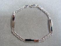 Armband met 3 graveerplaatjes