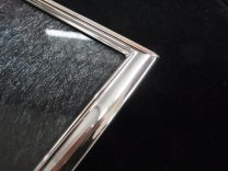 Zilveren fotolijst glad klassiek 20 x 25