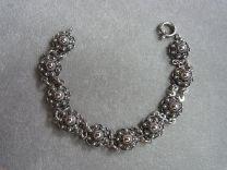 Armband Zeeuwse knop 12 mm donker zilver 18,5 cm