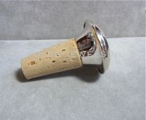 Zilveren Flessenstop sierkurk vlak glad