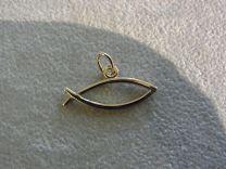 Ichtus, ichthus visje gouden hanger