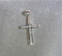 Kruis met zirkonia 3,5 cm