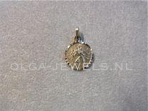 Medaille Christoffel rond facet geslepen 8 mm