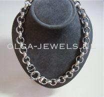 Jasseron collier geoxideerd 13,5 mm 45 cm