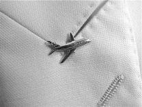 Boeing 737 reverspeld zilver