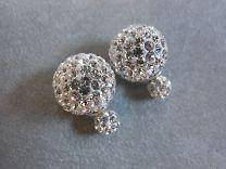 Double Dots oorknoppen met zirkonia