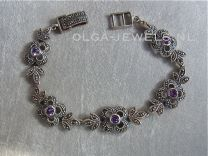 Armband marcasiet amethyst