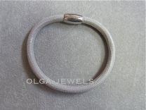 Armband Side, Leren band grijze slang