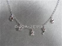 Bedel collier met 5 bedels zilver