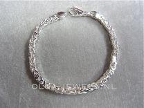 Konings schakel zilveren armband 4 mm 20 cm