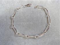 Closed forever schakelarmband zilver met karabijn sluiting 19 cm